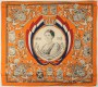 70/5041 Textiles House of Orange  Commemorative cloth for the coronation of Wilhelmina