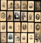 72/1858 Photographs  Lot of 37 cartes de visite